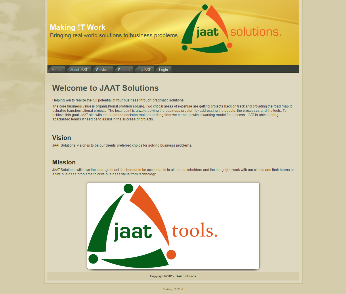 JAAT Solutions -- Making IT Work